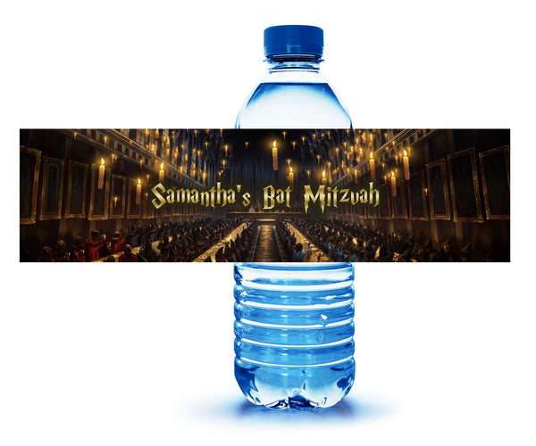Harry Potter bar bat mitzvah birthday water bottle labels