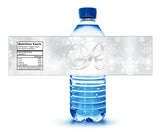 (sku374) Custom winter water bottle label | holiday bottle stickers | winter wedding label - Best Welcome Bags