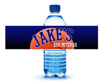 personalized basketball water bottle label 4 birthday bar mitzvah