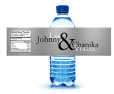Gold or silver personalized Las Vegas water bottle labels