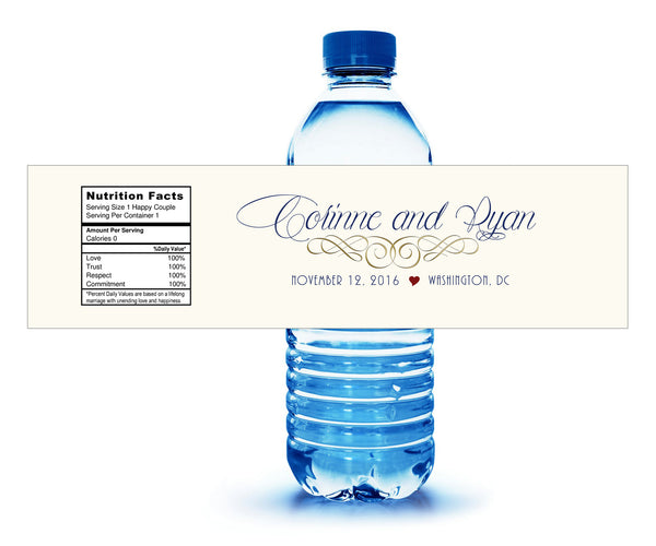 custom water bottle labels in your colors