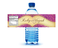 (sku272) printed Indian Hindi wedding water bottle labels | fits mini to standard 17 oz - Best Welcome Bags