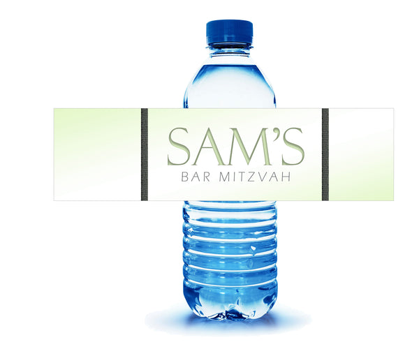 personalized bar mitzvah water bottle labels for hotel welcome bag