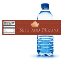 (sku367) Autumn event | water bottle label | fall wedding | custom monogram - Best Welcome Bags