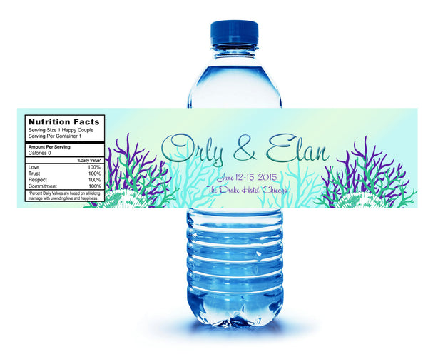 (sku445) sea turtle | water bottle labels | beach party bottle stickers - Best Welcome Bags