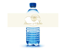 (sku450) nautilus seashell | water bottle label | beach party bottle stickers - Best Welcome Bags