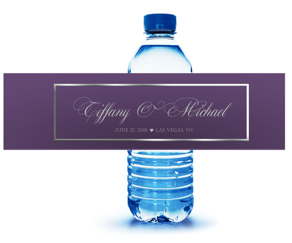 Any color personalized water bottle labels