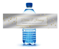 (sku043) Silver + gold custom water bottle labels | water bottle stickers | adhesive labels - Best Welcome Bags