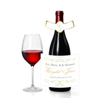 (sku227) wine, champagne label 4 standard bottle pick backgrnd colors 4 wedding reception, gift