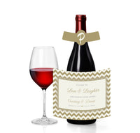 any color chevron wine, beer, champagne bottle label