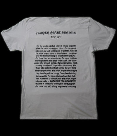 Frozen Heart Society Tee (White)