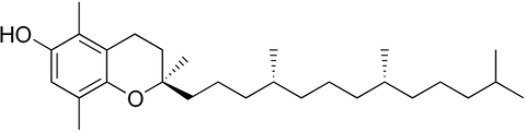 Chemical structure of Beta-tocopherol
