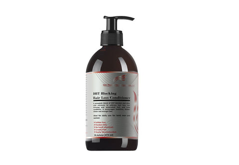 Image of a 16 ounce bottle of Hair Restoration Laboratories' DHT blocking hair loss conditioner