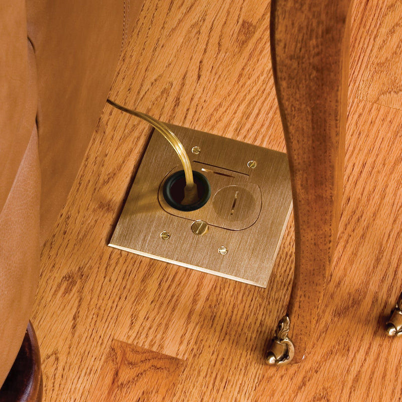 Recessed In-Floor Electrical Outlets