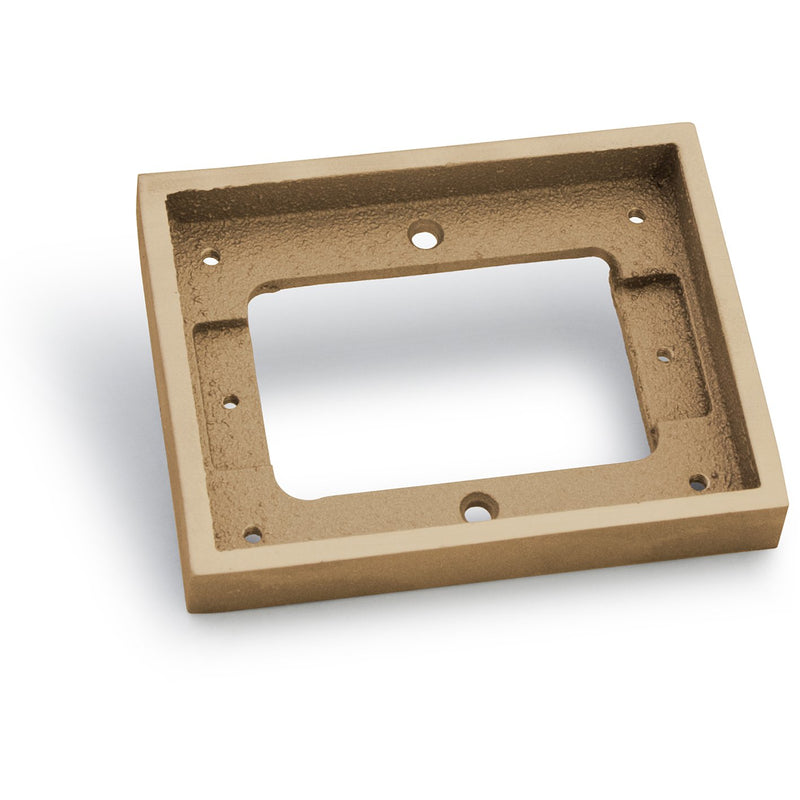 Lew Electric 1101-DBE-B 1 Gang Tile Flange for 1100 Boxes, Brass