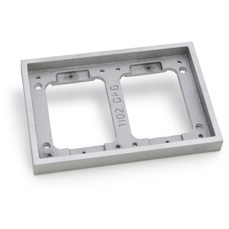 Lew Electric 1102-DBE-A 2 Gang Tile Flange for 1100 Boxes, Aluminum