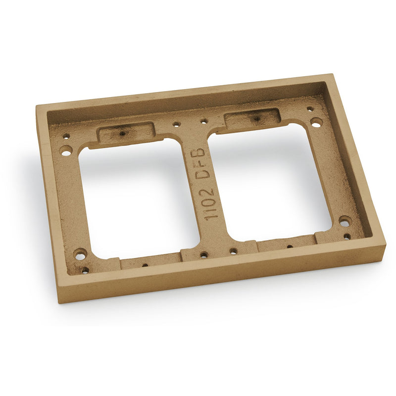 Lew Electric 1102-DBE-B 2 Gang Tile Flange for 1100 Boxes, Brass