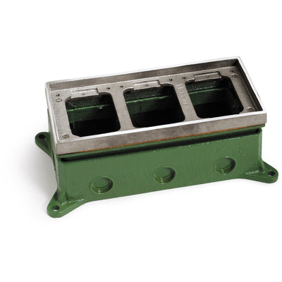 Lew Electric 1103-58-A 3 Gang Concrete Floor Box, Adjustable, Aluminum