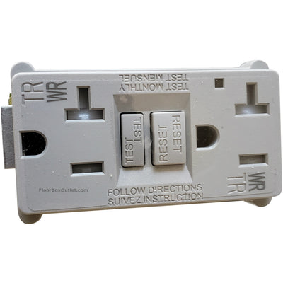 Lew Electric Replacement Gray Outlet for OB-1 Boxes