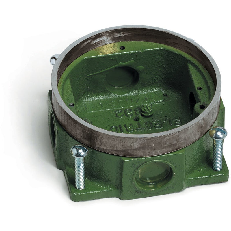 Lew Electric 332-58-A Round Concrete Floor Box SemiAdjustable Aluminum