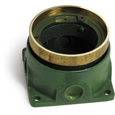 Lew Electric 532-SB-58 Round Shallow Concrete Floor Box, Adjustable, Brass