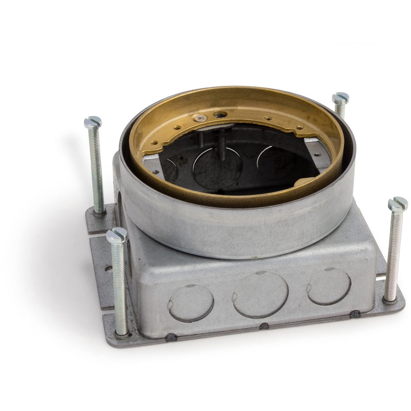 Lew Electric 532-SB-SMB Round Concrete Floor Box, Adjustable, Brass