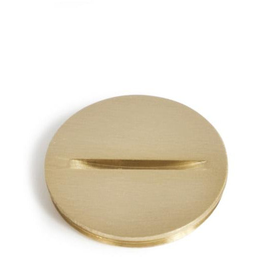 "Lew Electric 6214 1.25"" Brass Screw Plug Cover for RCFB Floor Boxes"