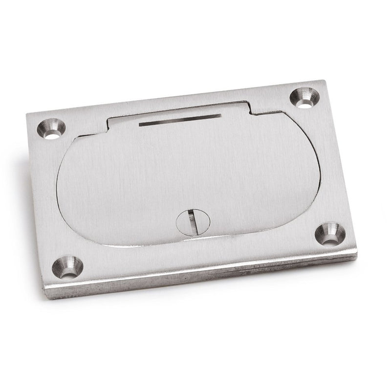 Lew Electric 6304-DFB-1-A Hinged Lid Duplex 1100 Box Cover, Aluminum