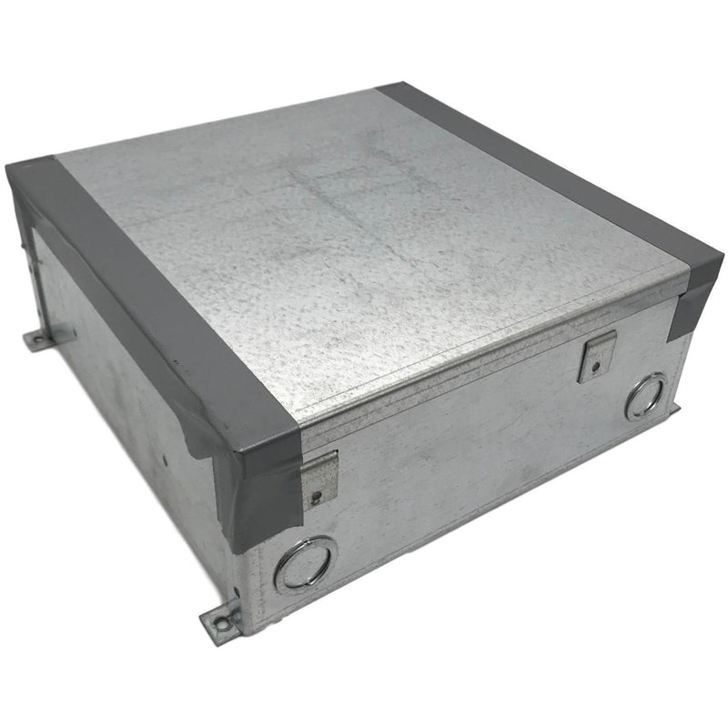 Lew Electric CF10C66 Concrete Floor Box, showing cover for installation / protection during concrete pour