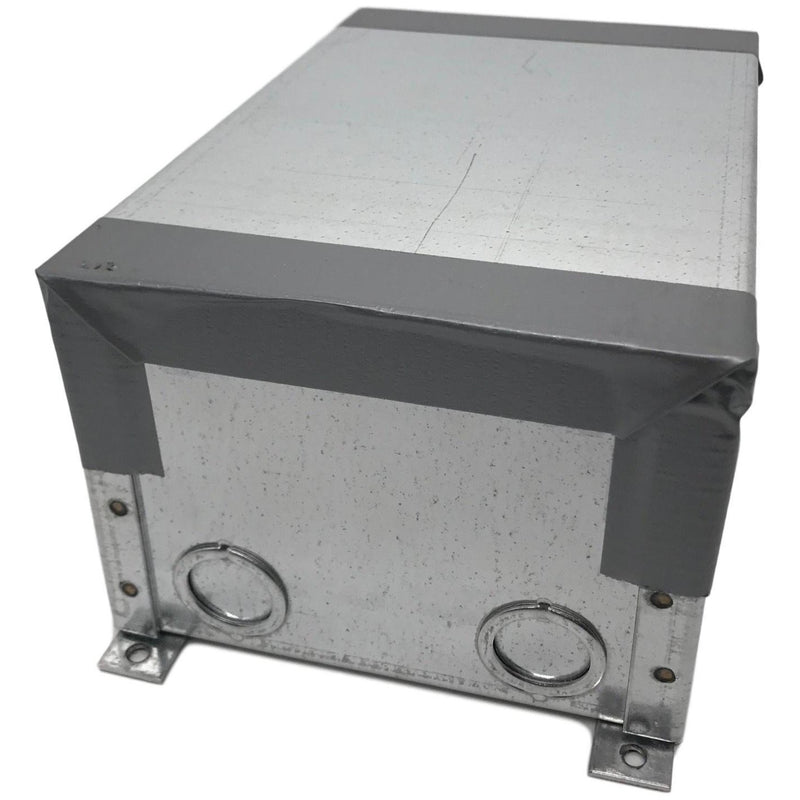 Lew Electric CF9C4B Concrete Floor Box, showing cover for installation / protection during concrete pour