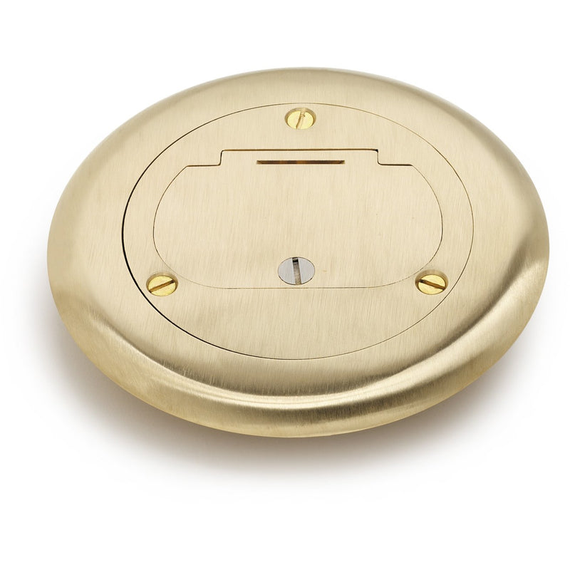 Lew Electric DCF-1-X-GFI Hinged Brass Flanged Cover, 32 Series Decora