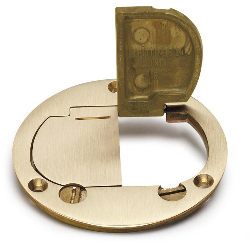 Lew Electric DFB-LR Two Hinged Brass Cover for 32 Series Boxes