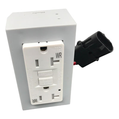 Replacement 20 Amp GFI TR White Outlet For OB-1 Front