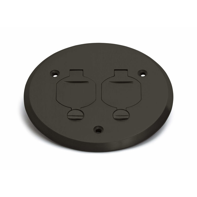 Lew Electric PBR-FPDB 1 Duplex Flip Lid Round Cover for PBR-1, Bronze