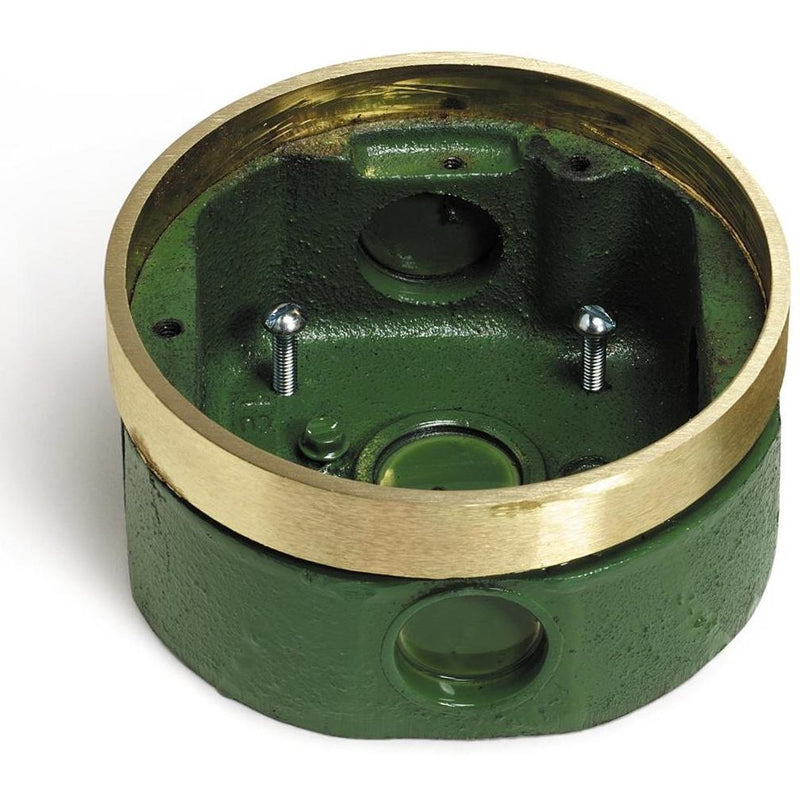 Lew Electric MW-332-58 Round Concrete Floor Box for Core Drills, Brass