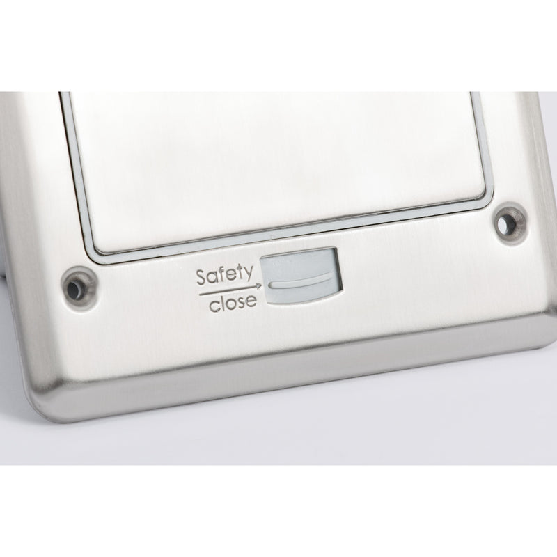 Outdoor Waterproof Popped Up Ground Box Stainless Steel 6 Empty Keystone Jacks, Push Button, Top