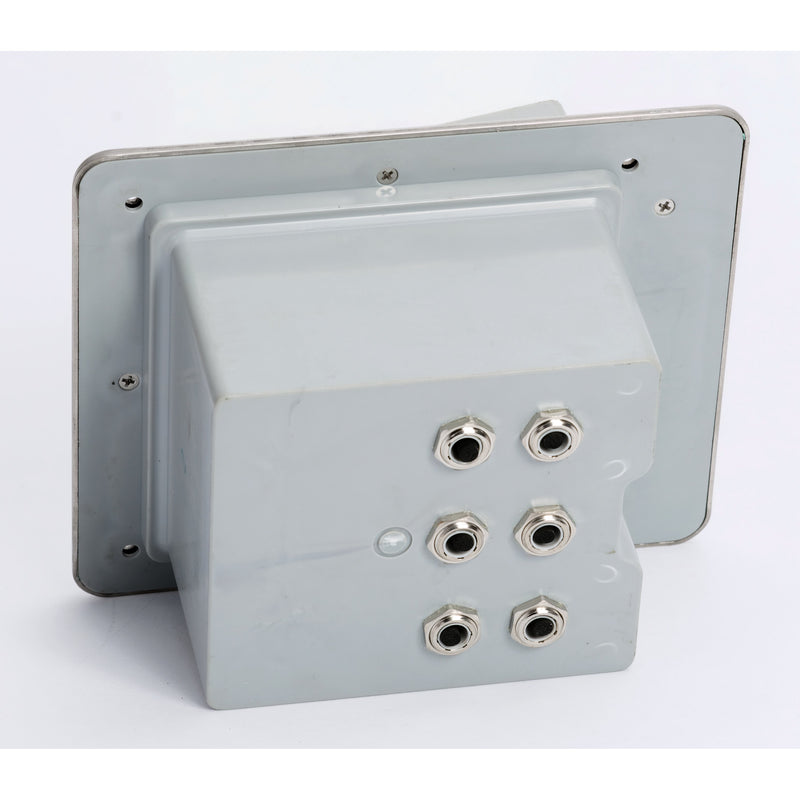 Outdoor Waterproof Popped Up Ground Box Stainless Steel 6 Empty Keystone Jacks, Push Button, Bottom
