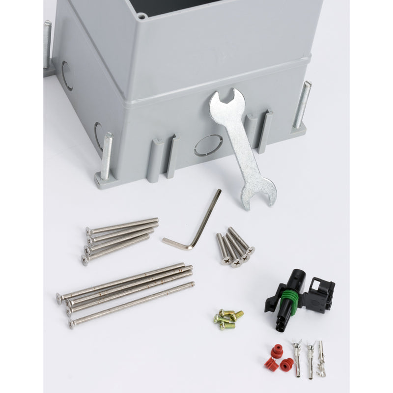 Outdoor Waterproof Popped Up Ground Box Stainless Steel 6 Empty Keystone Jacks, Push Button, Parts List