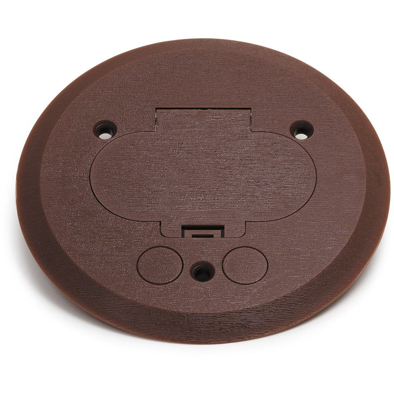 Lew Electric PFC-B Hinged Lid Brown Plastic Cover/Flange 32 Box Duplex
