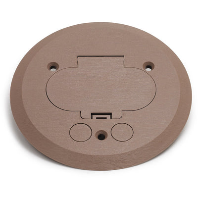 Lew Electric PFC-T Hinged Lid Tan Plastic Cover/Flange 32 Box Duplex