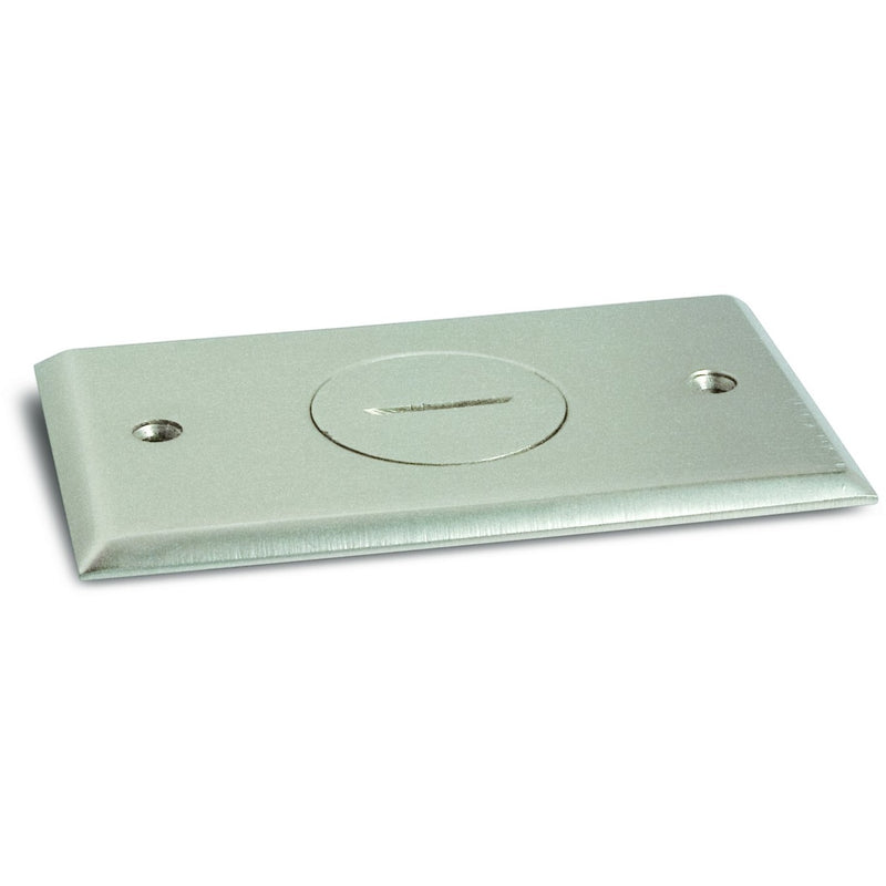 Recessed Floor Plate & Box, 1 15A Outlet, 1 Screw Plug, Nickel Plated
