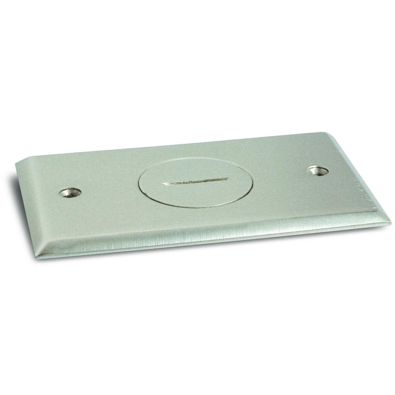 Quick Install Floor Plate, No Box, 15A Outlet, Screw Plug, Nickel