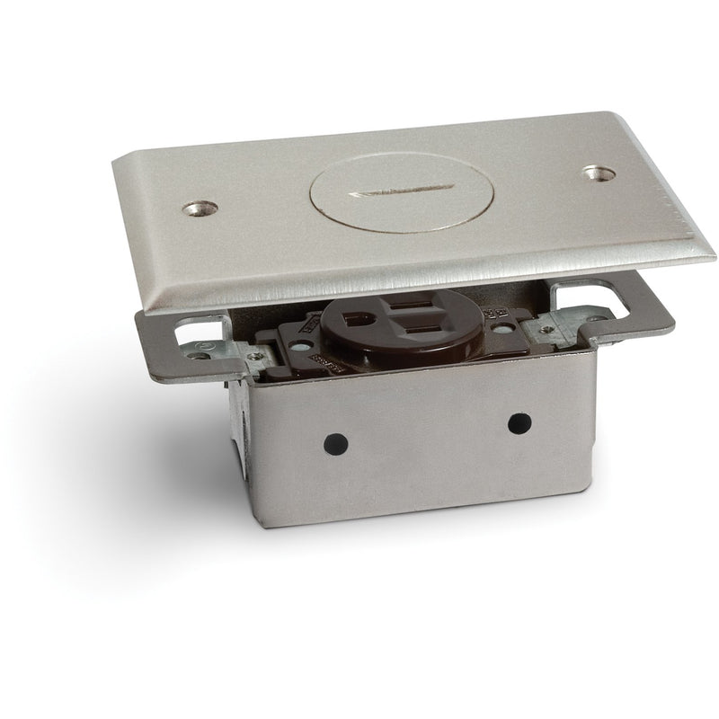 lew electric rrp1np 1 outlet quick install floor plate no box nickel