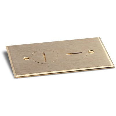 Lew Electric RRP-2-BR Cover for RRP-1 and SWB-1 Floor Boxes - Brass