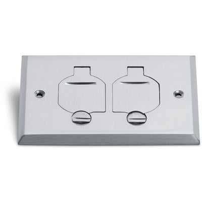 Lew Electric RRP-2-FPA 1 Duplex Flip Lid Cover for 1101-PB, Aluminum