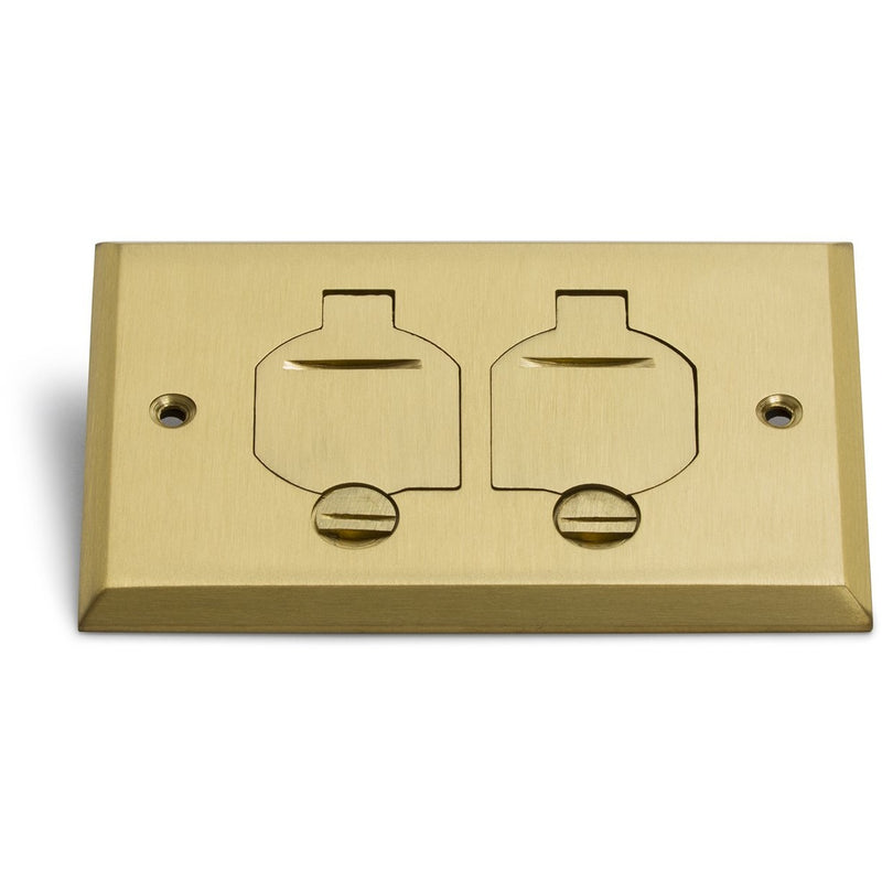 Lew Electric RRP-2-FPB 1 Duplex Flip Lid Cover for 1101-PB, Brass