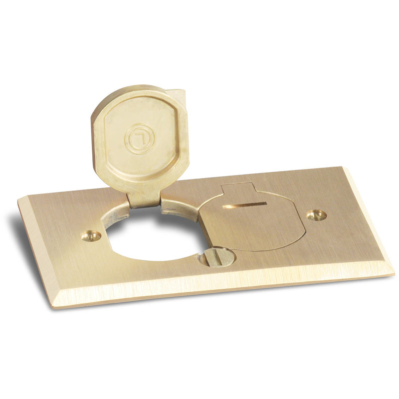 Lew Electric RRP-2-LRR Cover for RRP-1 and SWB-1 Floor Boxes - Brass