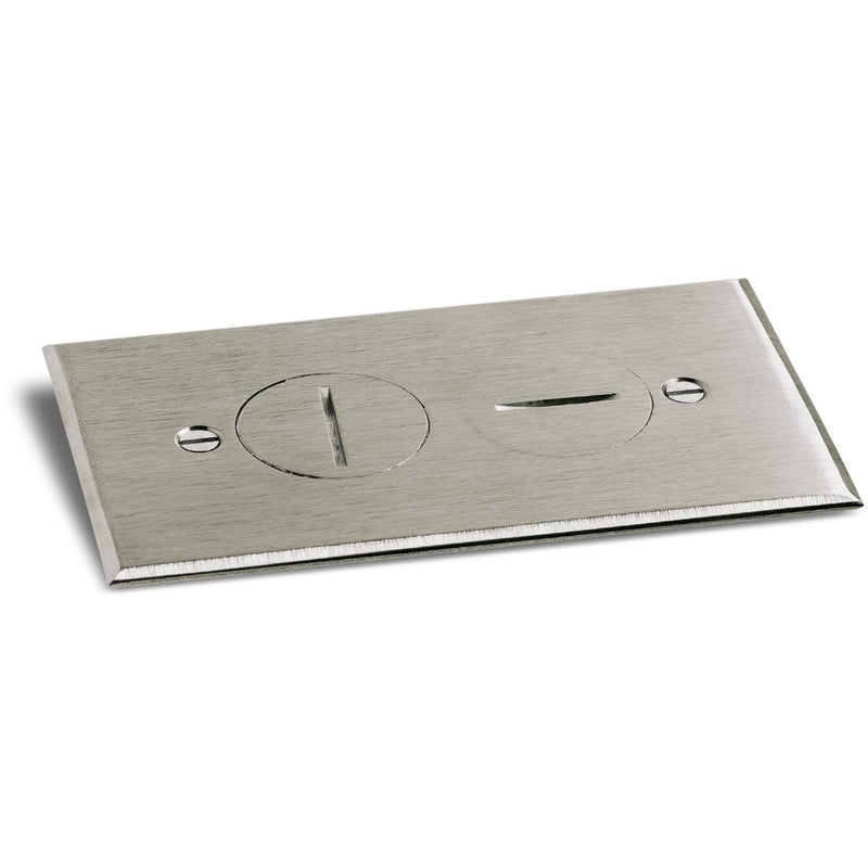 2 Screw Plug Plate Cover for RRP-1 & SWB-1 Floor Boxes, Nickel Silver