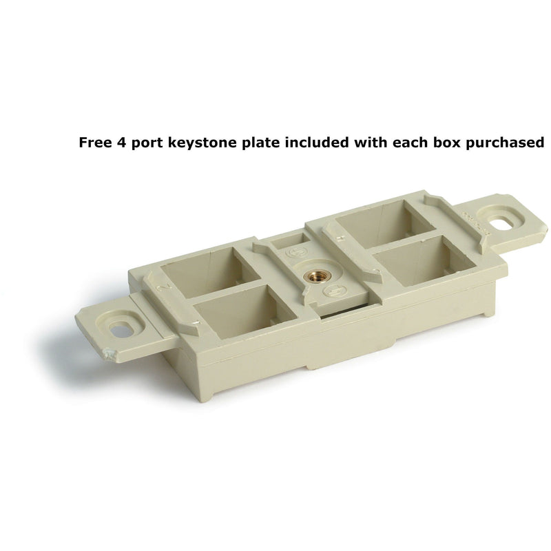 3 Duplex 15A Power Plastic Floor Box with Screw Plugs - Brass Cover