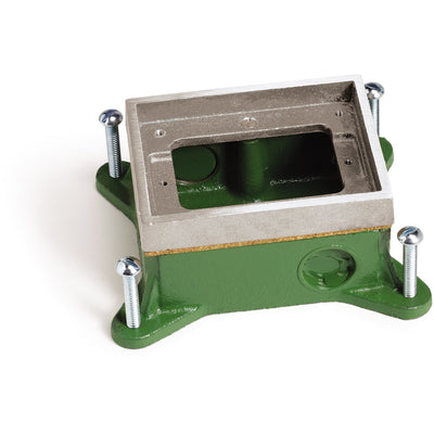 Single Gang Shallow Concrete Floor Box, Semi-Adjustable, Aluminum